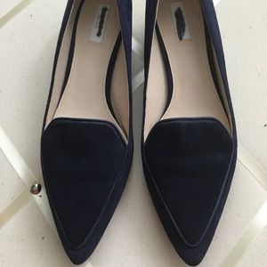 Navy Blue Cole Haan 'Dellora' Flats Pointed Toe